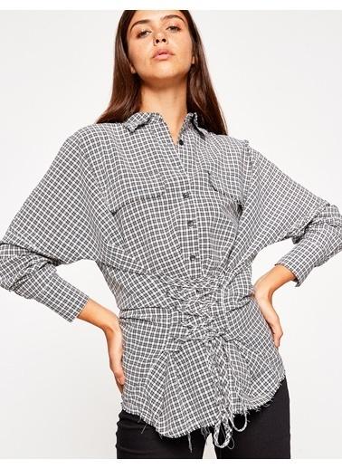 Önden Bağlamalı Ekose Gömlek-Koton